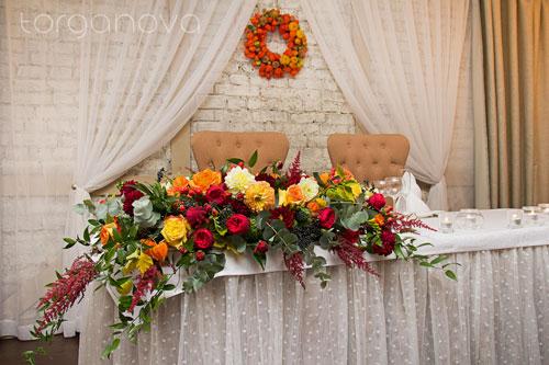 Осенняя свадьба в ресторане «Весенний»
