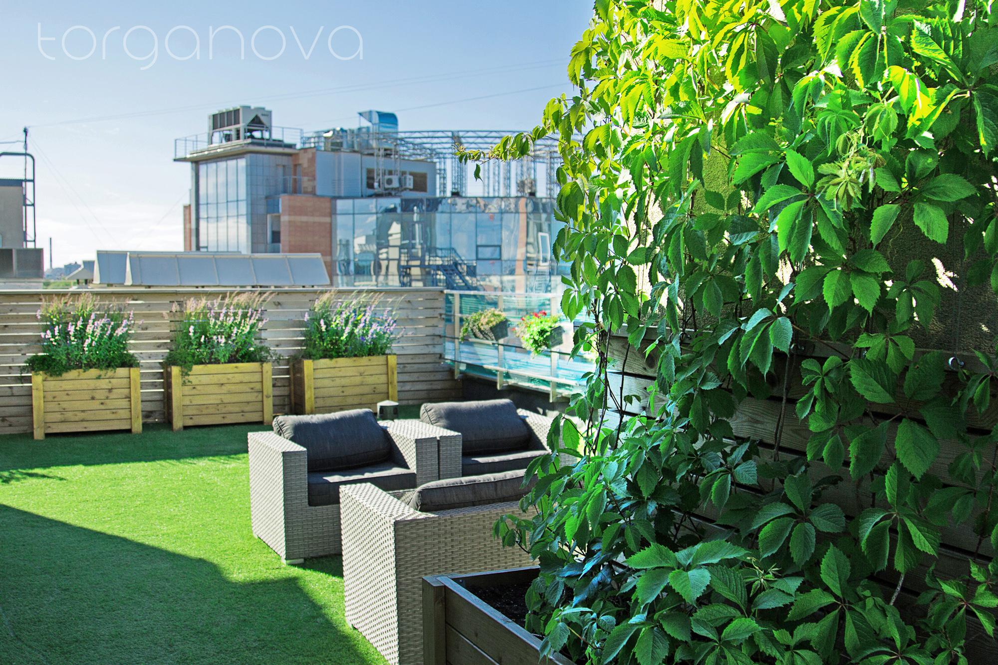 Озеленение частной террасы